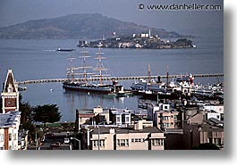 alcatraz, california, horizontal, marina, san francisco, west coast, western usa, photograph