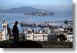 alcatraz, california, horizontal, marina, men, san francisco, west coast, western usa, photograph