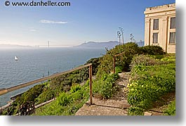 alcatraz, buildings, california, flowers, golden gate bridge, horizontal, san francisco, views, west coast, western usa, photograph