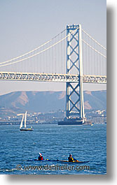 bay, bay bridge, bridge, california, san francisco, surfing, vertical, west coast, western usa, photograph
