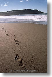 beaches, california, footprints, san francisco, sand, vertical, west coast, western usa, photograph