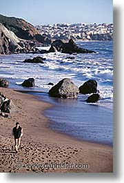 beaches, california, coast, san francisco, vertical, west coast, western usa, photograph