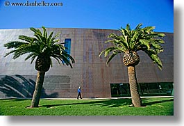 buildings, california, de young, de young museum, golden gate park, horizontal, museums, people, san francisco, trees, walls, west coast, western usa, photograph