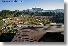 buildings, california, de young, de young museum, golden gate park, horizontal, museums, san francisco, topview, west coast, western usa, photograph