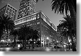 black and white, buildings, california, horizontal, landmarks, san francisco, west coast, western usa, photograph