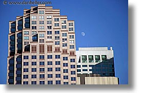 buildings, california, horizontal, moon, san francisco, west coast, western usa, photograph