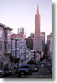 buildings, california, san francisco, transamerica, vertical, west coast, western usa, photograph