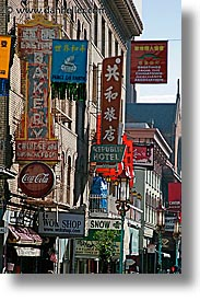 california, china town, chinese, san francisco, signs, vertical, west coast, western usa, photograph