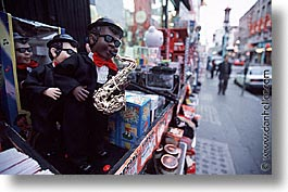california, china town, dolls, horizontal, san francisco, sax, west coast, western usa, photograph