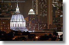 california, cities, city hall, horizontal, san francisco, slow exposure, west coast, western usa, photograph