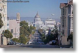 california, cities, city hall, down, horizontal, san francisco, streets, west coast, western usa, photograph