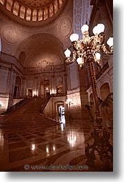 california, cities, city hall, interiors, san francisco, vertical, west coast, western usa, photograph