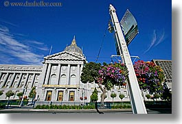 banners, california, city hall, horizontal, san francisco, west coast, western usa, photograph