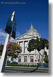 banners, california, city hall, san francisco, vertical, west coast, western usa, photograph
