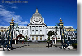 california, city hall, horizontal, lamp posts, san francisco, west coast, western usa, photograph