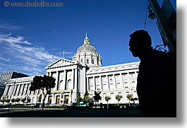 california, city hall, horizontal, san francisco, silhouettes, west coast, western usa, photograph