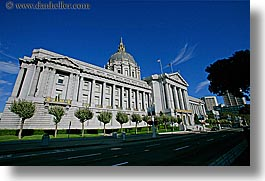 california, city hall, horizontal, san francisco, streets, west coast, western usa, photograph