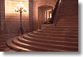 california, cities, city hall, horizontal, san francisco, stairs, west coast, western usa, photograph