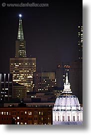 california, cities, city hall, san francisco, slow exposure, transamerica, vertical, west coast, western usa, photograph