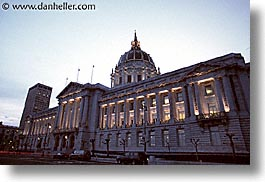 california, city hall, horizontal, nite, san francisco, west coast, western usa, photograph