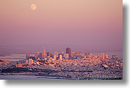 california, cities, cityscapes, horizontal, san francisco, sunsets, west coast, western usa, photograph
