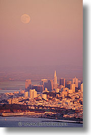california, cities, cityscapes, san francisco, sunsets, vertical, west coast, western usa, photograph