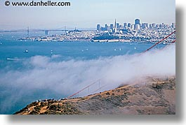 california, cityscapes, crowds, fog, horizontal, san francisco, views, west coast, western usa, photograph
