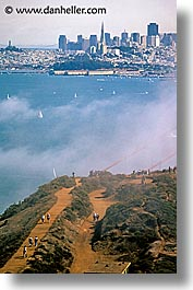 california, cityscapes, crowds, fog, san francisco, vertical, views, west coast, western usa, photograph