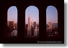 california, cityscapes, coit, downtown, horizontal, san francisco, via, west coast, western usa, photograph