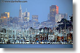 california, cityscapes, eve, evening, horizontal, san francisco, slow exposure, west coast, western usa, photograph