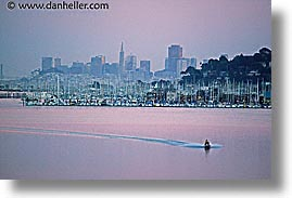 california, cityscapes, horizontal, jetskier, san francisco, sausalito, west coast, western usa, photograph