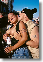california, couples, folsom fair, homosexual, san francisco, vertical, west coast, western usa, photograph