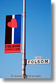 california, folsom, folsom fair, homosexual, san francisco, signs, vertical, west coast, western usa, photograph