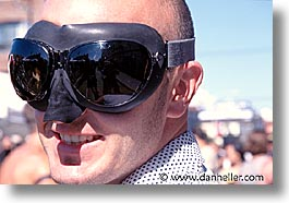 california, folsom fair, goggles, homosexual, horizontal, men, san francisco, west coast, western usa, photograph
