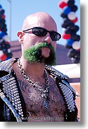 beards, california, folsom fair, green, homosexual, san francisco, vertical, west coast, western usa, photograph