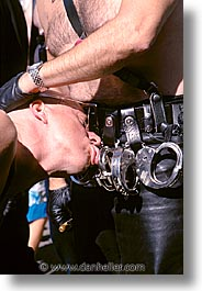 california, folsom fair, handcuffs, homosexual, san francisco, vertical, west coast, western usa, photograph