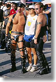 california, folsom fair, homosexual, leather, men, san francisco, vertical, west coast, western usa, photograph