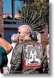 california, folsom fair, homosexual, mohawk, san francisco, vertical, west coast, western usa, photograph