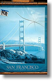 abstracts, bridge, california, golden gate, golden gate bridge, national landmarks, posters, san francisco, vertical, west coast, western usa, photograph