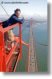 bridge, california, dans, golden gate, national landmarks, petes, san francisco, tops, vertical, west coast, western usa, photograph