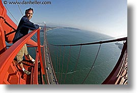 bridge, california, dans, fisheye lens, golden gate, horizontal, national landmarks, petes, san francisco, tops, west coast, western usa, photograph
