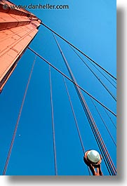 bridge, california, days, golden gate, golden gate bridge, half, lamps, moon, national landmarks, san francisco, vertical, west coast, western usa, photograph