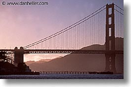 bridge, california, golden gate, golden gate bridge, horizontal, national landmarks, piers, san francisco, silhouettes, west coast, western usa, photograph