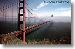 bridge, california, cars, golden gate, golden gate bridge, horizontal, national landmarks, san francisco, traffic, west coast, western usa, photograph