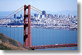 bridge, california, golden gate, golden gate bridge, horizontal, national landmarks, san francisco, west coast, western usa, photograph
