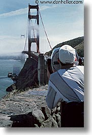 binoculars, bridge, california, golden gate, golden gate bridge, national landmarks, san francisco, vertical, views, west coast, western usa, photograph