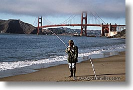 bridge, california, fishermen, golden gate, golden gate bridge, horizontal, national landmarks, san francisco, west coast, western usa, photograph