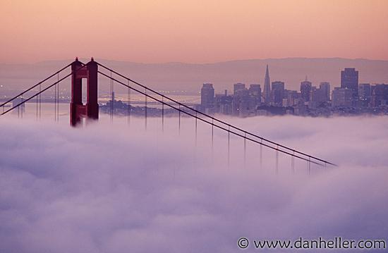 golden gate bridge fog. Fog on the Golden Gate Bridge