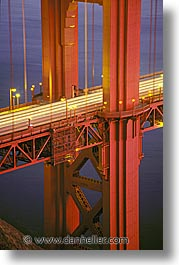 bridge, california, golden gate, golden gate bridge, national landmarks, nite, san francisco, vertical, west coast, western usa, photograph
