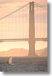 bridge, california, golden gate, golden gate bridge, national landmarks, sails, san francisco, vertical, west coast, western usa, photograph